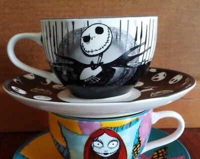 RARE JACK SKELLINGTON  SALLY THE NIGHTMARE BEFORE CHRISTMAS COFFEE CUPS MUG CUP