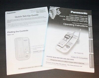 Panasonic KX-TG2217S Operating Instructions and Quick Start Guide Wireless Phone for sale  Shipping to India
