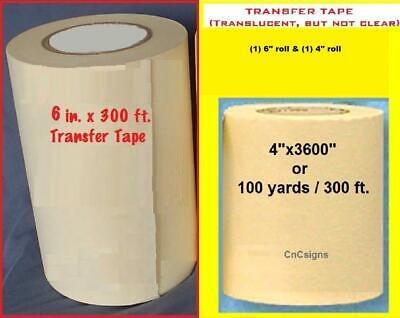 4 6 Application Transfer Paper Tape 300 Ft. Roll For Vinyl Cutter Plotter