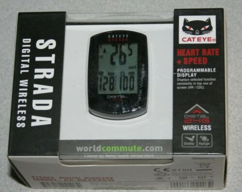 CatEye Strada Digital Wireless CC-RD420DW Heart Rate+Speed Bicycle Computer NEW