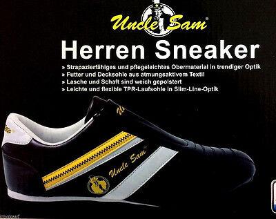 Uncle Sam Herren Sneaker Gr. 45 black Sabots Slipper Schuhe Sportschuhe ZU