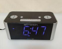 Emerson CKS1708 Smart Set Radio Alarm Clock Tested Works #2E29