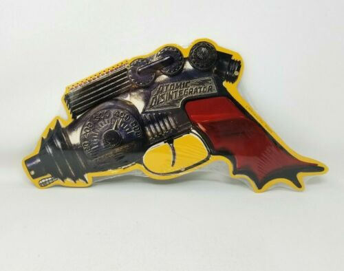 Retro-a-Go-Go Atomic Disintegrator Raygun Yellow Background Tin Sign New Sealed