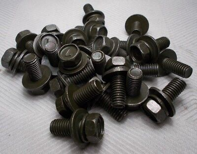 M8 8mm X 1.25 Coarse X 15mm Thread Hex Washer Head Bolt Lot Of 25 Bolts