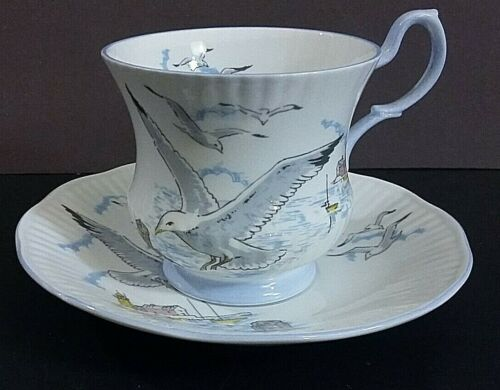 Queens/ Rosina Seagull bone china Cup & Saucer Set