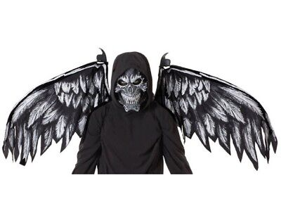 Adult Fallen Angel Mask And Wings](Angel Costumes For Men)