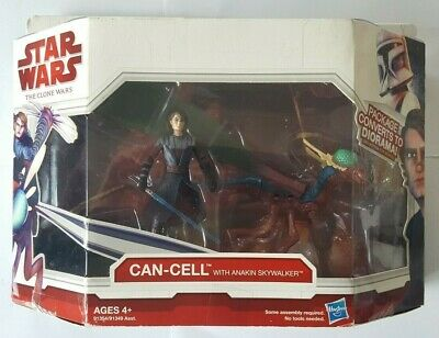 STAR WARS CAN-CELL + ANAKIN SKYWALKER CLONE WARS BEAST PACK + ACTION FIGURE NEW