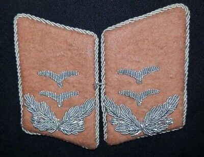 WWII German Luftwaffe 1st Lieutenant Signal Personnel Collar Tabs Set of Two
