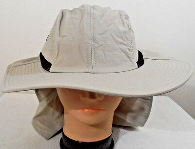 a05fc9433bcc9 BOONIE NECK COVER FLAP SUN PROTECTION HAT KHAKI FISHING HUNT WIDE BRIM
