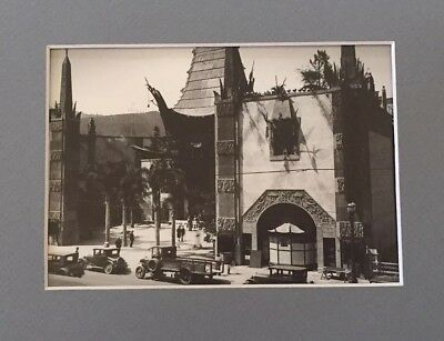Grauman's Theatre - Hollywood Blvd - Los Angeles 1927 Vintage Photo Matted Print