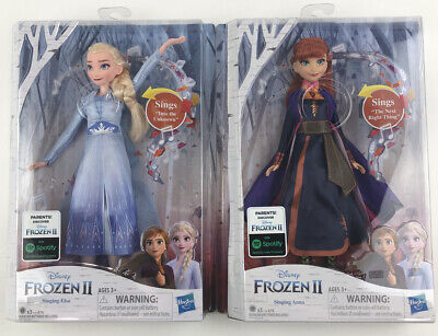 Disney Frozen 2 Elsa and Anna Singing Dolls Into The Unknown New In Box