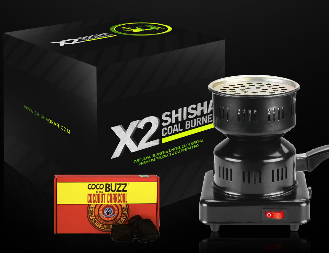 Coil Cup Stove Burner Starter + Starbuzz Cocobuzz Shisha Hookah Charcoal Coal