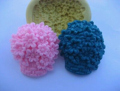 Flower basket 30mm Flexible silicone mold for fondant chocolate clay & etc  ()
