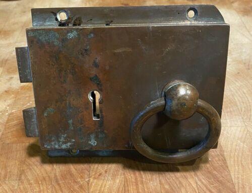 Vintage Solid Brass Lock Door Knob Set