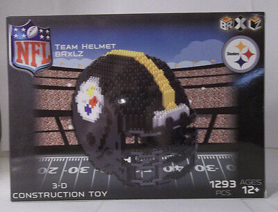 Pittsburgh Steelers football BRXLZ Team mini Helmet 3D 1293 Pcs NFL Nfl Steelers Helmet