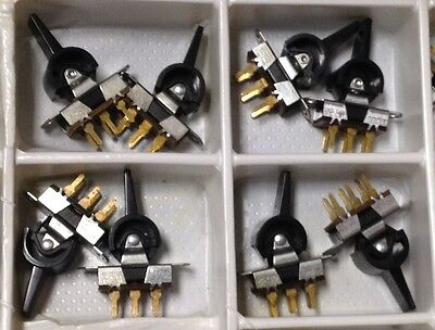 Lot of 10- ITW Paddle Switch DPDT UID SSN 90754 PCB mount panel