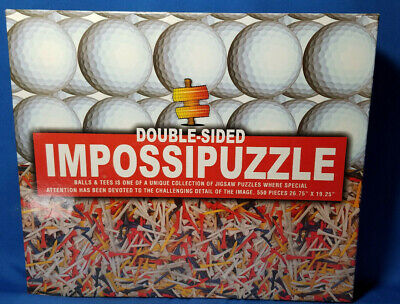 Golf ImpossiPuzzle Doublesided, Balls and Tees NIB