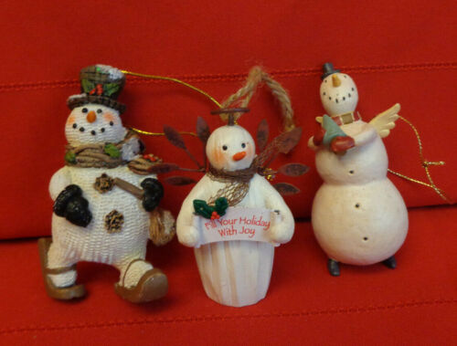 Set of 3 Snowment Christmas Ornaments