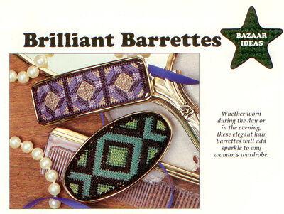 Brilliant Barrettes & Towel Keepers Plastic Canvas Pattern - Useful Items