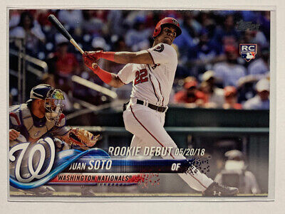 JUAN SOTO - 2018 - TOPPS UPDATE - ROOKIE DEBUT - CARD # US104 - NATIONALS - MLB