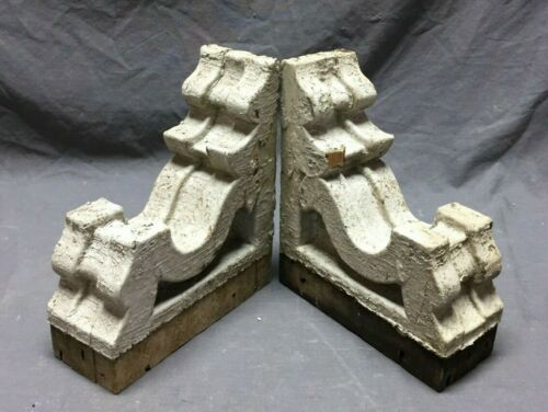 Pair Antique Roof Corbels Shelf Brackets Shabby Vintage Chic 291-19C