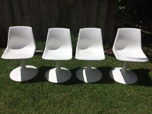 Vintage Sebel Wineglass Chair x4 In White Elwood Port Phillip Preview