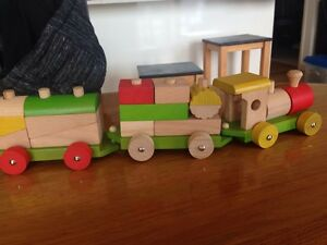 Ever Earth wooden stacking train Sandy Bay Hobart City Preview