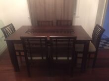 Wooden table & 6 chairs Stafford Heights Brisbane North West Preview