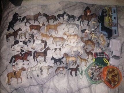 Schleich horses, accessories, other animals