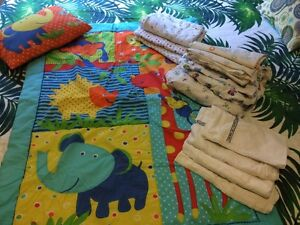 Baby cot Blanket set + asst sheets + wraps Pacific Pines Gold Coast City Preview