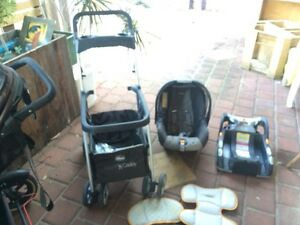 Chicco travel system stroller capsule and car base Eden Hill Bassendean Area Preview