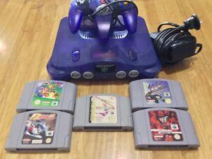 Purple Nintendo 64 & 5 Games RARE Casula Liverpool Area Preview