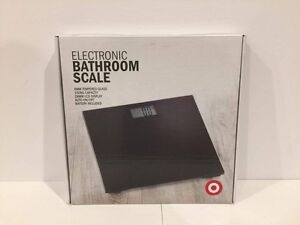 Glass electronic bathroom scale (target $15) Doncaster Manningham Area Preview