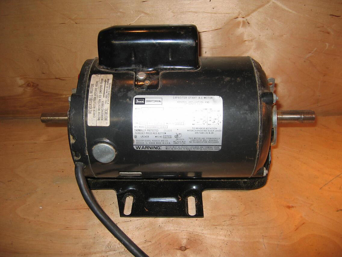 Craftsman Belt Drive Table saw motor 1 HP, 1-5/8