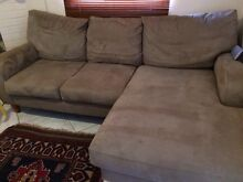 Suede Lounge Suite 2 Seater with Chaise Lounge Eastlakes Botany Bay Area Preview