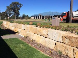 Sandstone retaining wall builders Moggill Brisbane North West Preview