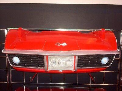 1969 Chevrolet Corvette Stingray C3 Resin Wall Shelf, Red