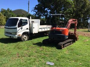 Truck and excavator combo Inverness Yeppoon Area Preview