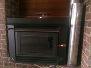Inbuilt Saxon Blackwood Wood Heater Upwey Yarra Ranges Preview