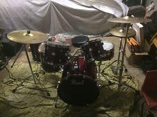 "Pearl Forum 6 Piece Drum Kit Set Like New Skins Zildjian Evans 20"" Mount Druitt Blacktown Area Preview"