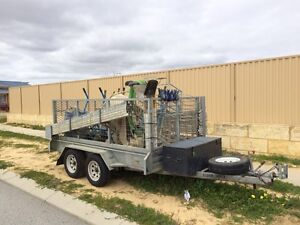 10x5 Trailer with complete set of brickie tools Kallaroo Joondalup Area Preview