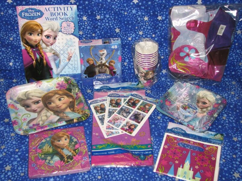 New Frozen Disney Princess Birthday Party Kit For 8 Plates Cups Napkins More