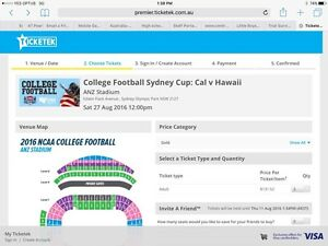 2 x gold category tickets to NCAA college American football Bonner Gungahlin Area Preview