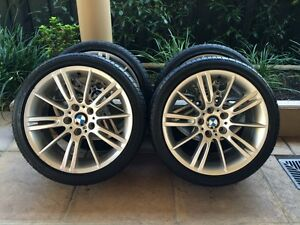 """18"""" GENUINE BMW 3-SERIES *M-SPORT* 325I E46 E90 WHEELS & 95% BRID Kew Boroondara Area Preview"""
