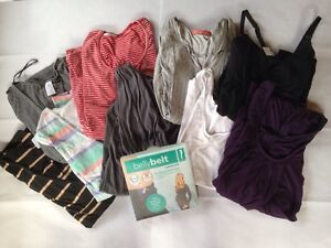 9 Maternity tops plus belly belt size M/10-12 Roseville Ku-ring-gai Area Preview