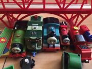 thomas train set wooden over 90 pieces . Thornlie Gosnells Area Preview