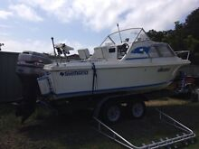5.3m Half Cabin 135hp Mariner v6 2.0L The Entrance Wyong Area Preview