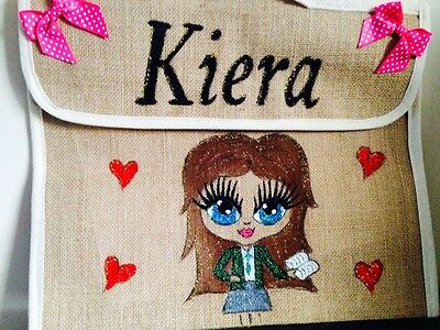 Personalized Book Bags For Girls (GIRLS PERSONALISED SCHOOL BOOK BAGS ANY NAME ANY UNIFORM AND STYLE GIFT-MUSIC)
