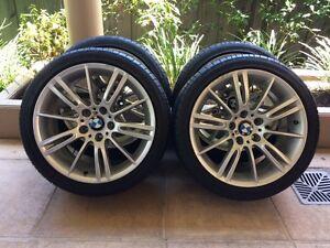 """18"""" GENUINE BMW 3-SERIES *M-SPORT* 335I E46 E90 & 95% BRIDGESTONE Kew Boroondara Area Preview"""