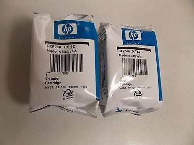 HP 62 Combo 2Pack  Ink Cartridges Black and Color NEW GENUINE